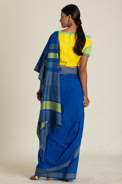 Urban Drape Bishop Blue Saree