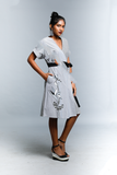 Heliconia Printed Wrap Dress