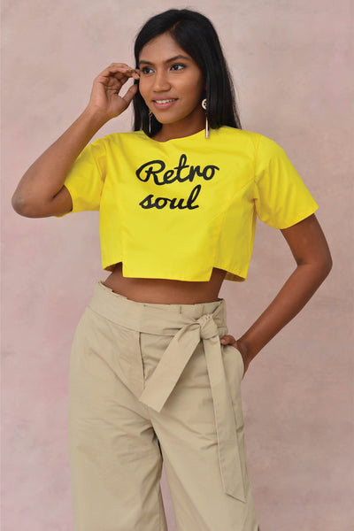 Retro Soul Crop Blouse