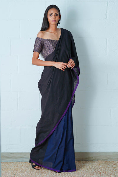 Urban Drape Sable Ray Saree