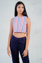 Load image into Gallery viewer, Sleeveless Stripped Crop Top