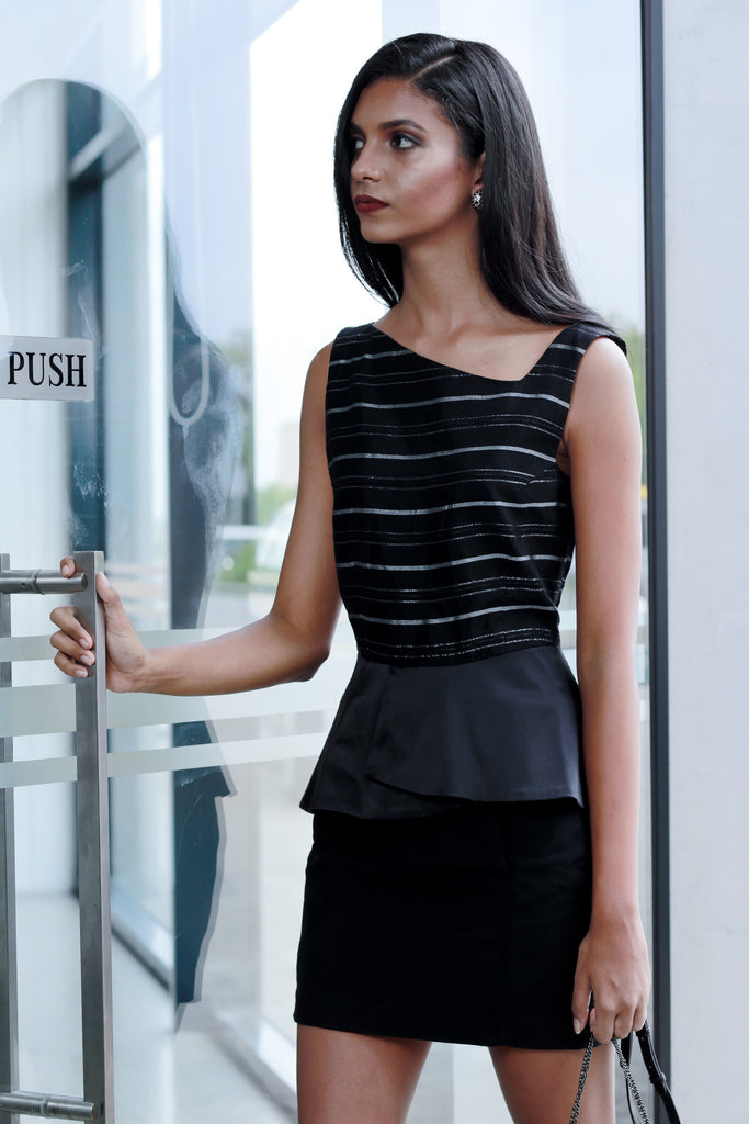 Handwoven peplum top