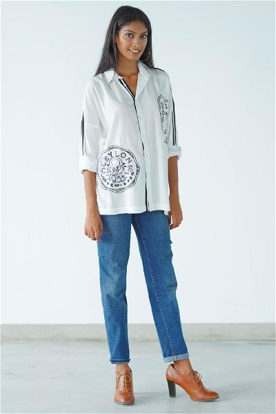 Ceylon Travel Shirt ( white )