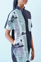 Load image into Gallery viewer, News Paper Printed Midi Dress