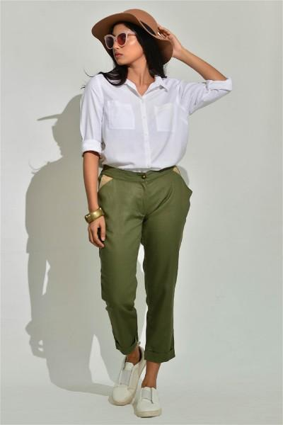 Tailored Moss Cropped Pants