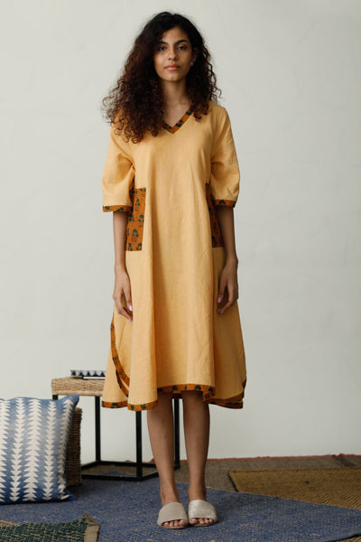 Lesha Mustard Two Way Tunic