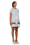 Charlene Bird cloud print shift dress