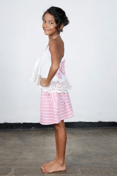 Pink Whimsy Top & Skirt