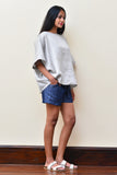 Light Grey Oversized Linen Top