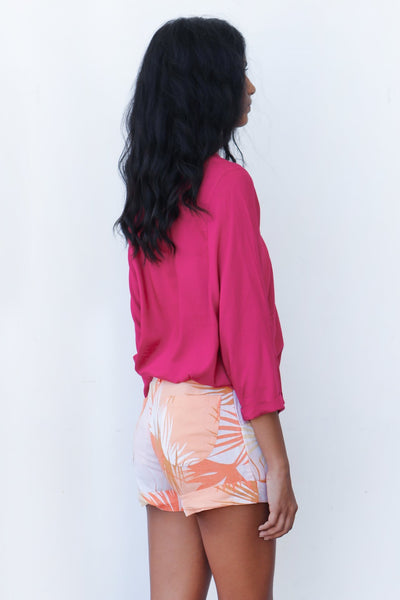 Printed Shorts - Orange