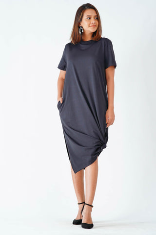 Retro soul back Tie up Midi dress V1