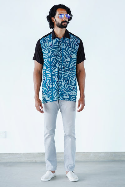 Abstract Casual Batik Shirt