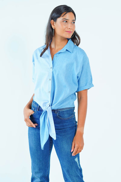 Denim Tie up Shirt
