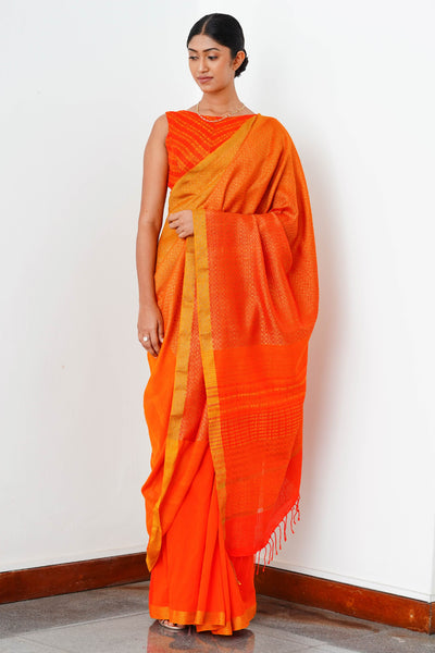 Urban Drape Dusty Orange Saree