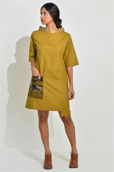 Over Sized Pocket Moss Mini Dress
