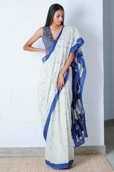 Urban Drape Ink Dash Saree
