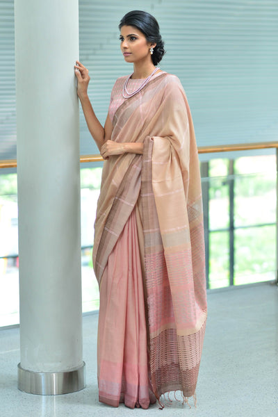 Urban Drape Rose Peach Saree