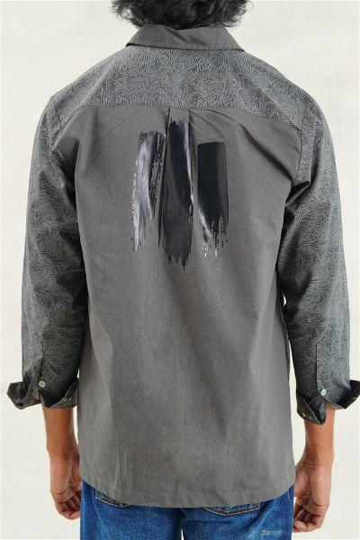 Foil Camouflage ZIP-UP Long Sleeves Shirt