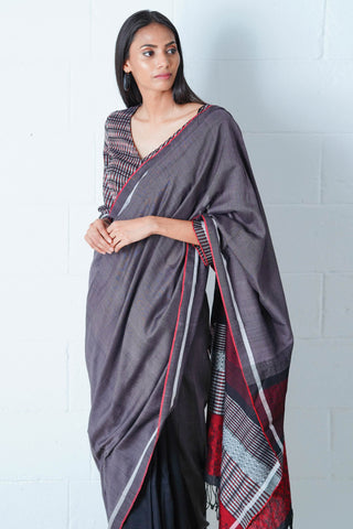 Urban Drape Powder Navy Saree