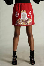 Load image into Gallery viewer, Queen Of Clubs Mini Skirt