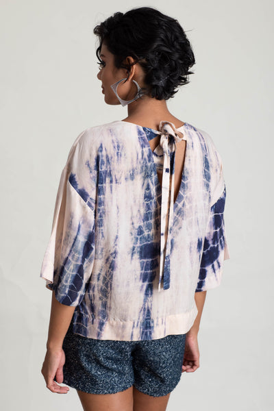 Wide Sleeve Tie Dye Top V2