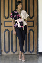 Load image into Gallery viewer, Cattleya Batik Artisan Linen Pink Kimono