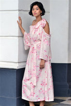 Load image into Gallery viewer, Cherry Blossom Side Bow Tie-Up Dress