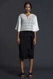 Handwoven Striped wrap skirt