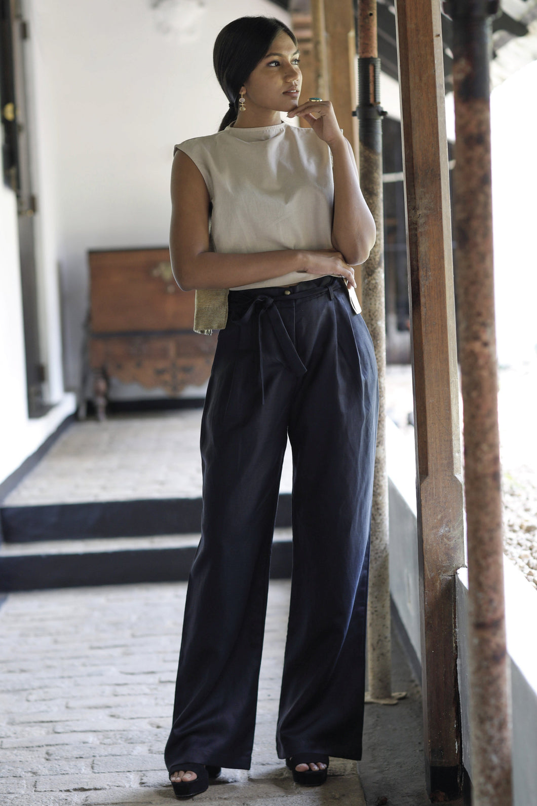 Mara High-waist Black Pants
