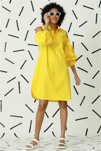 Lucid Dreams Polka Dot Dress