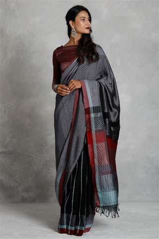 Urban Drape Golden Clouds - Tie Dye Hand Woven Saree - Shipping from 24th January