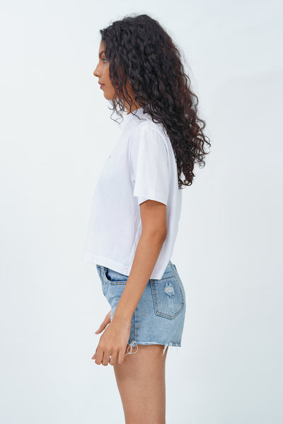 White SL Latitude Crop T-Shirt