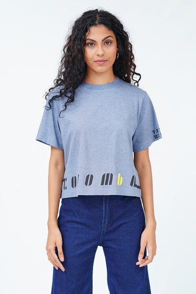 "Gray ""Colombo"" Crop T-Shirt"