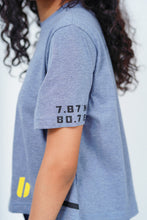 "Load image into Gallery viewer, Gray ""Colombo"" Crop T-Shirt"