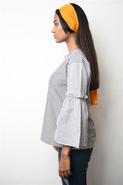 Retro Ruffle Sleeve Top V1