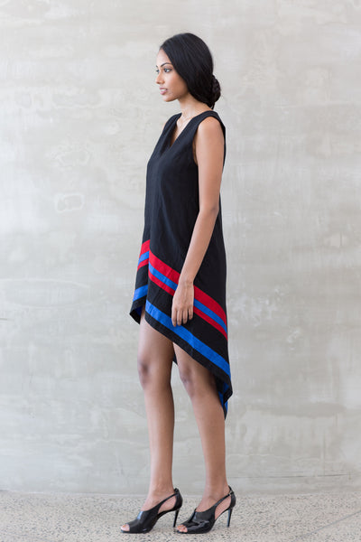 Handwoven Asymmetric Tunic Dress
