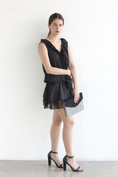 Ruffle mini dress