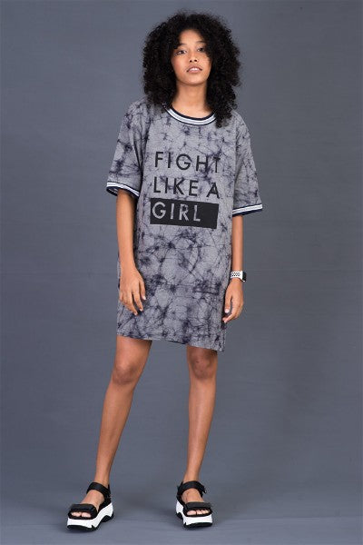 Slogan Batik T-shirt Dress V1