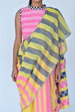 Load image into Gallery viewer, Urban Drape Strong Stripes Saree