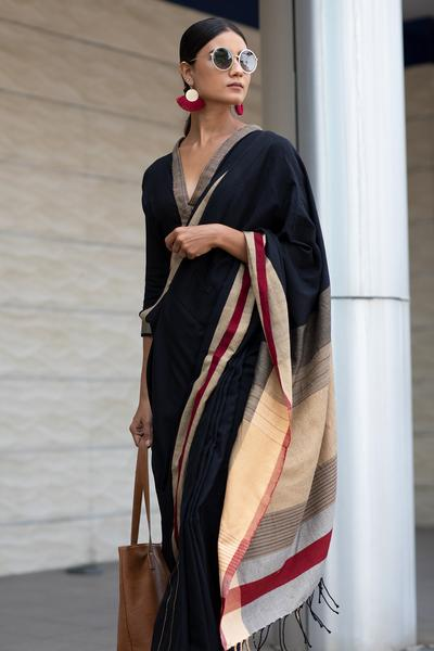 Urban Drape Black Night Saree