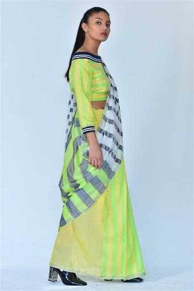Urban Drape Checkered Winner Saree