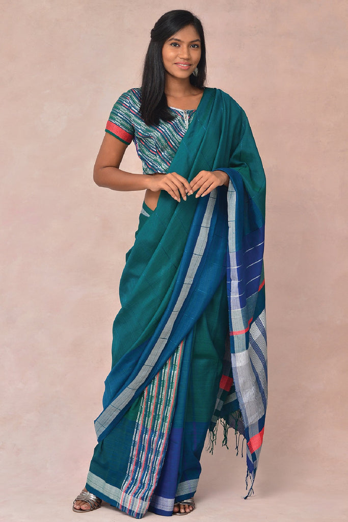 Urban Drape Malai Ha Green Saree