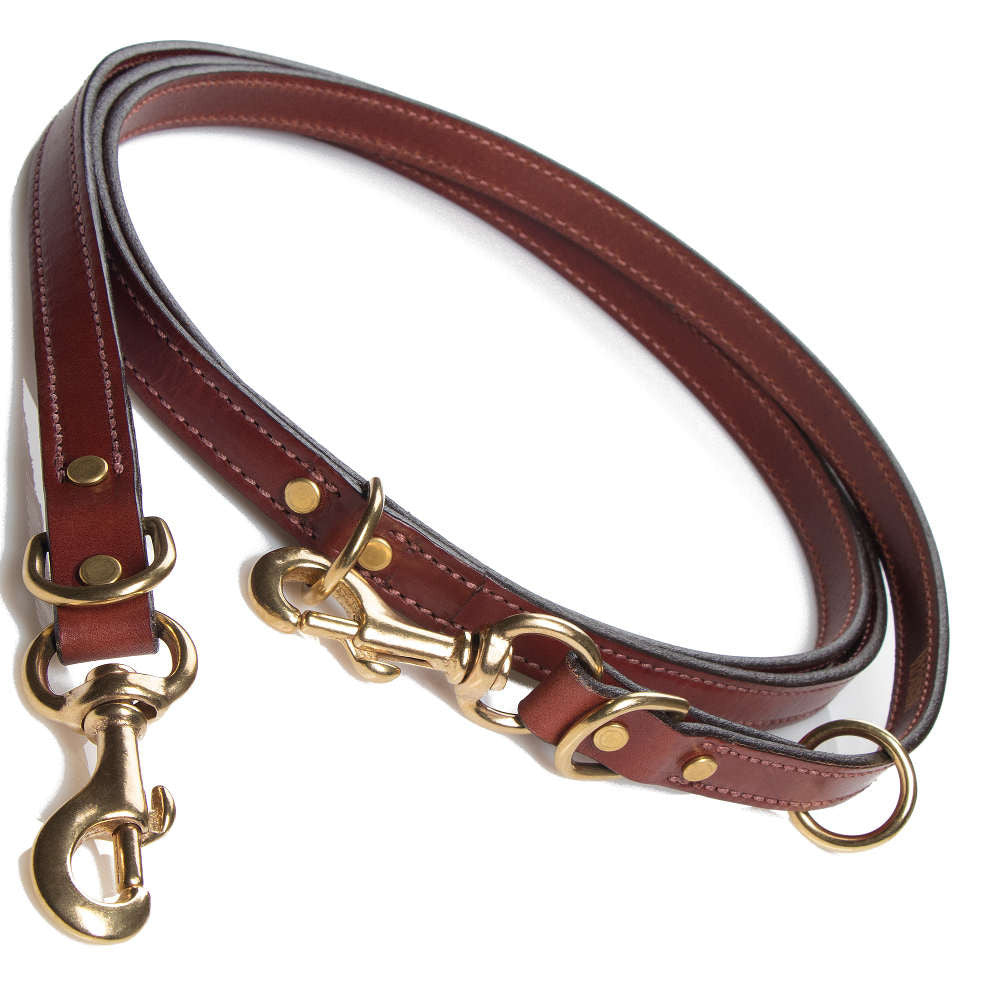 Leather Jaeger Lead - Chestnut