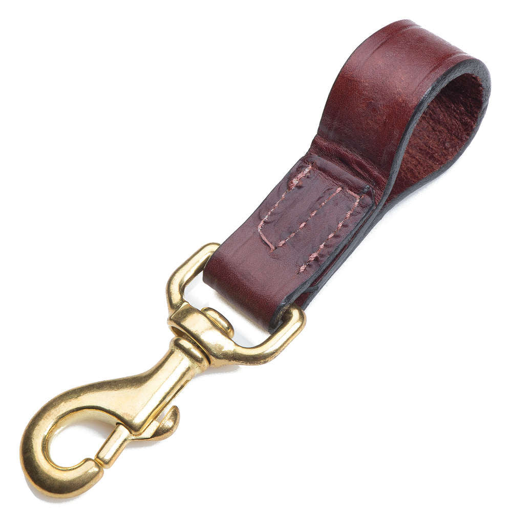 Leather Belt Snap - Chestnut