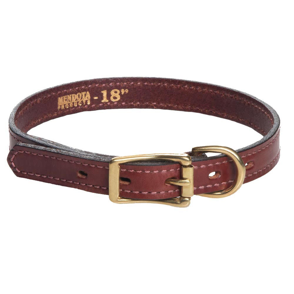 Leather Standard Collar - Chestnut