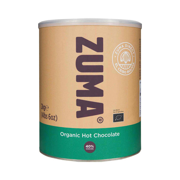Zuma Organic Premium Hot Chocolate 40% Cocoa 2kg Tin