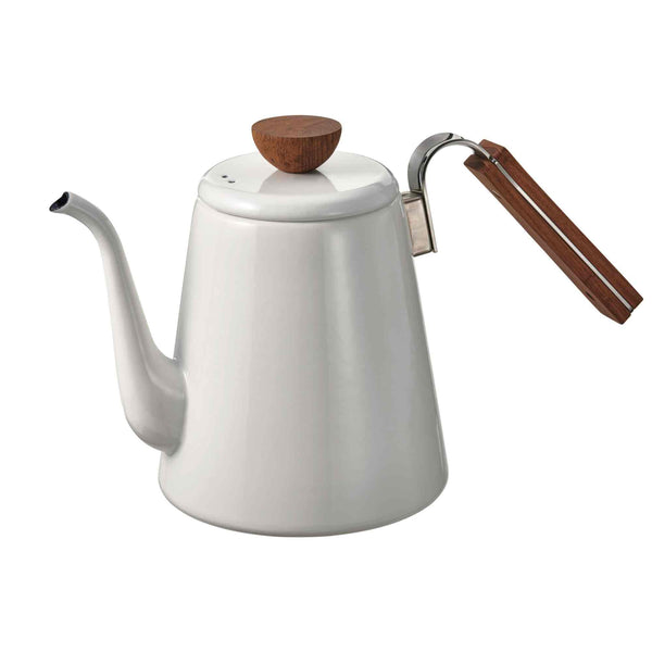 Hario Bona V60 Enamel Coffee Drip Kettle - 800ml - White