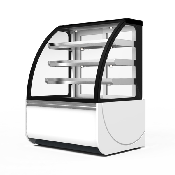 Prodis Calabria - Curved Glass Patisserie Counter Back Service - Modular