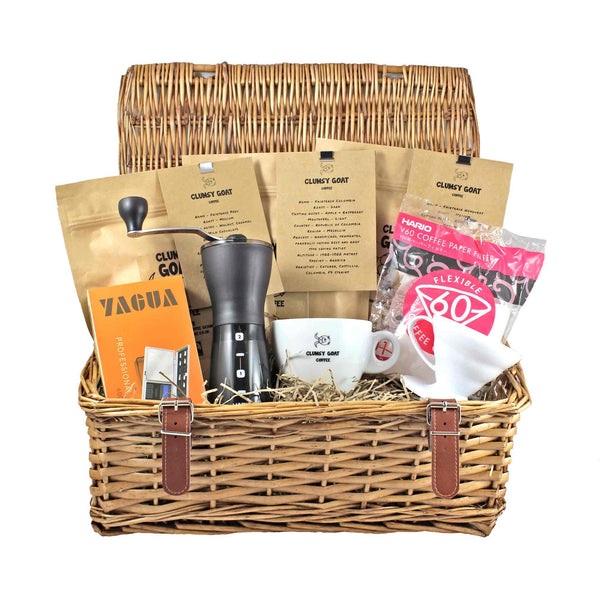 Clumsy Goat Ceramic Hario 01 V60 Deluxe Coffee Bean Gift Hamper