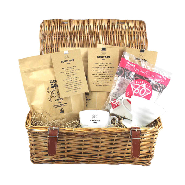 Clumsy Goat Ceramic Hario 02 V60 Coffee Bean Gift Hamper